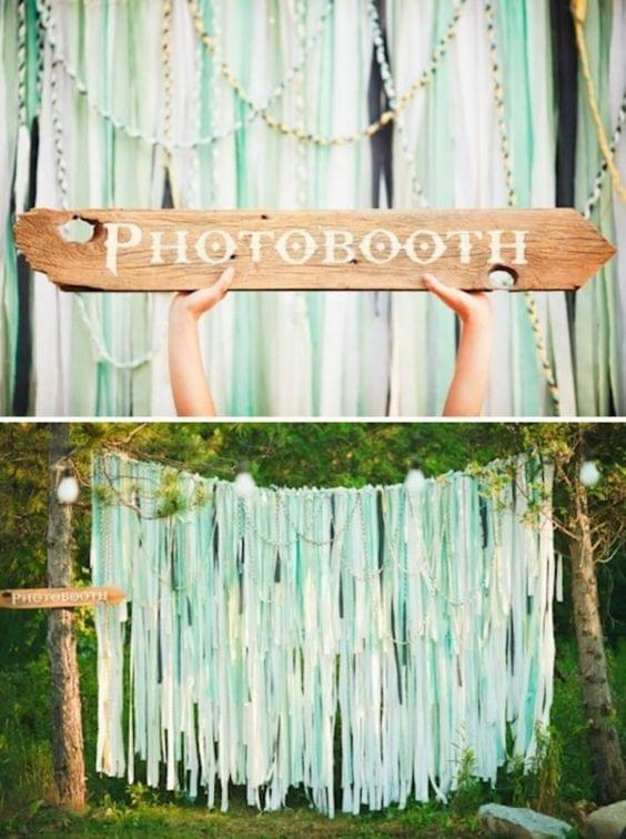 Summer wedding fun and playful photobooth activity
