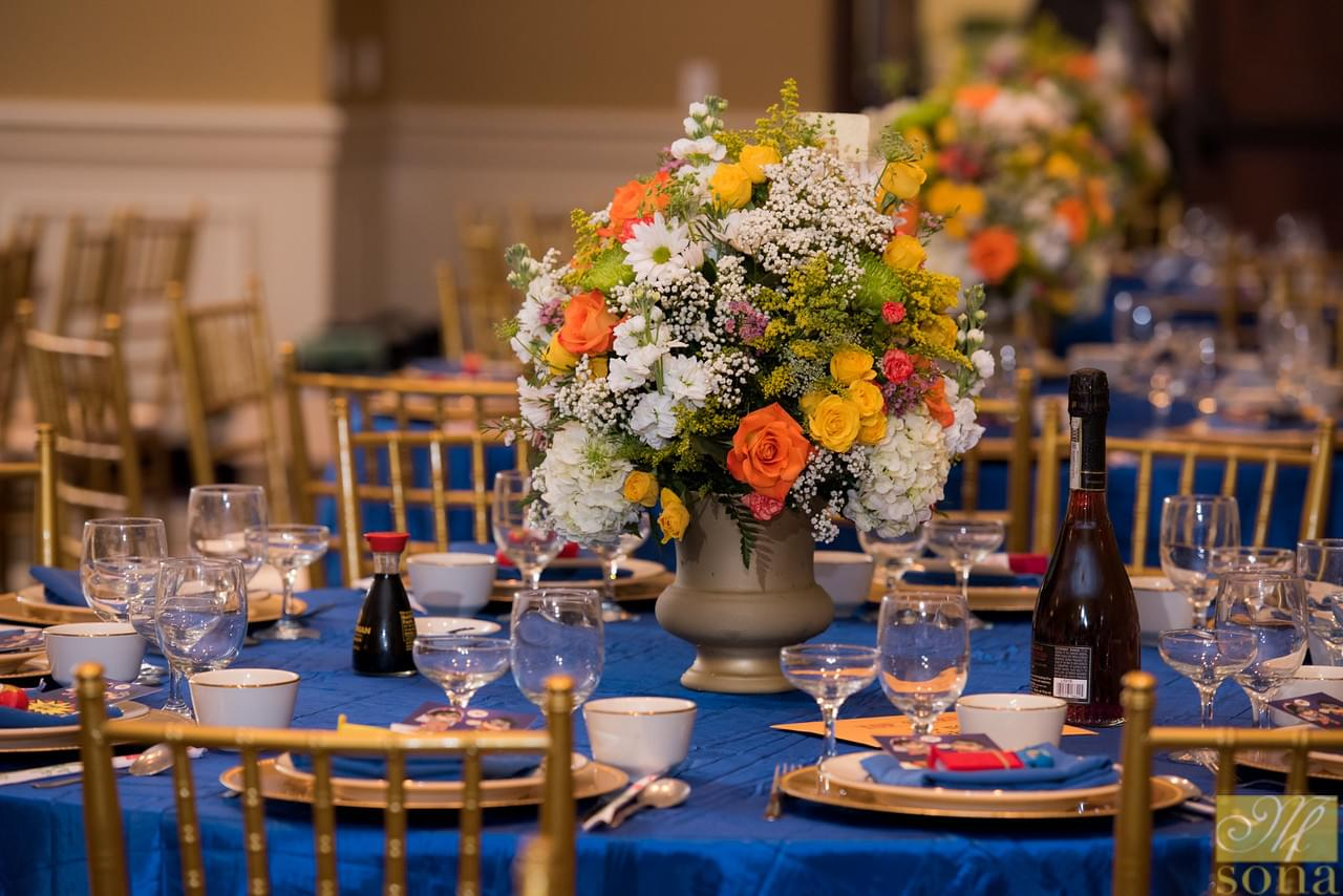 Flower wedding centerpieces