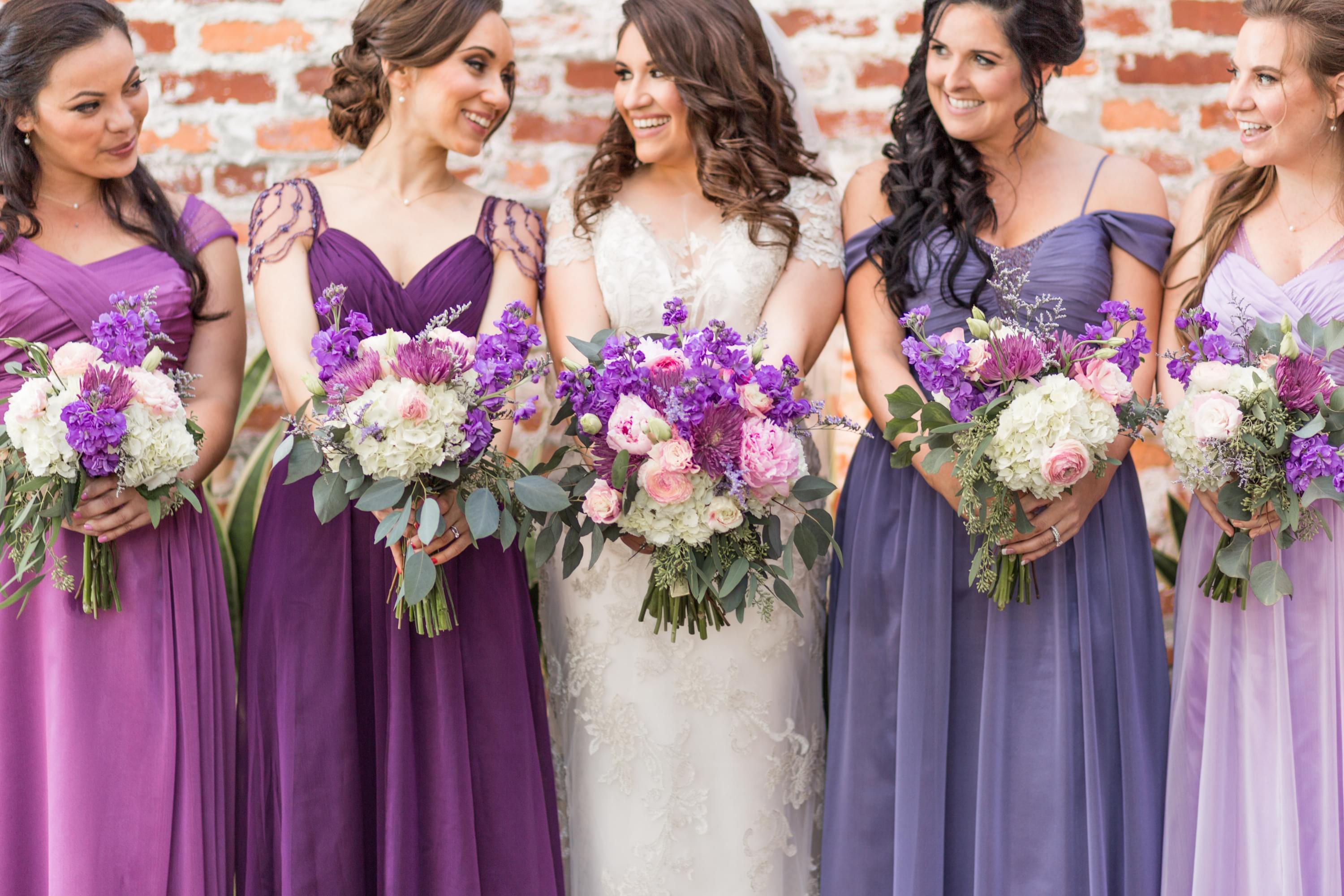 purple wedding color scheme