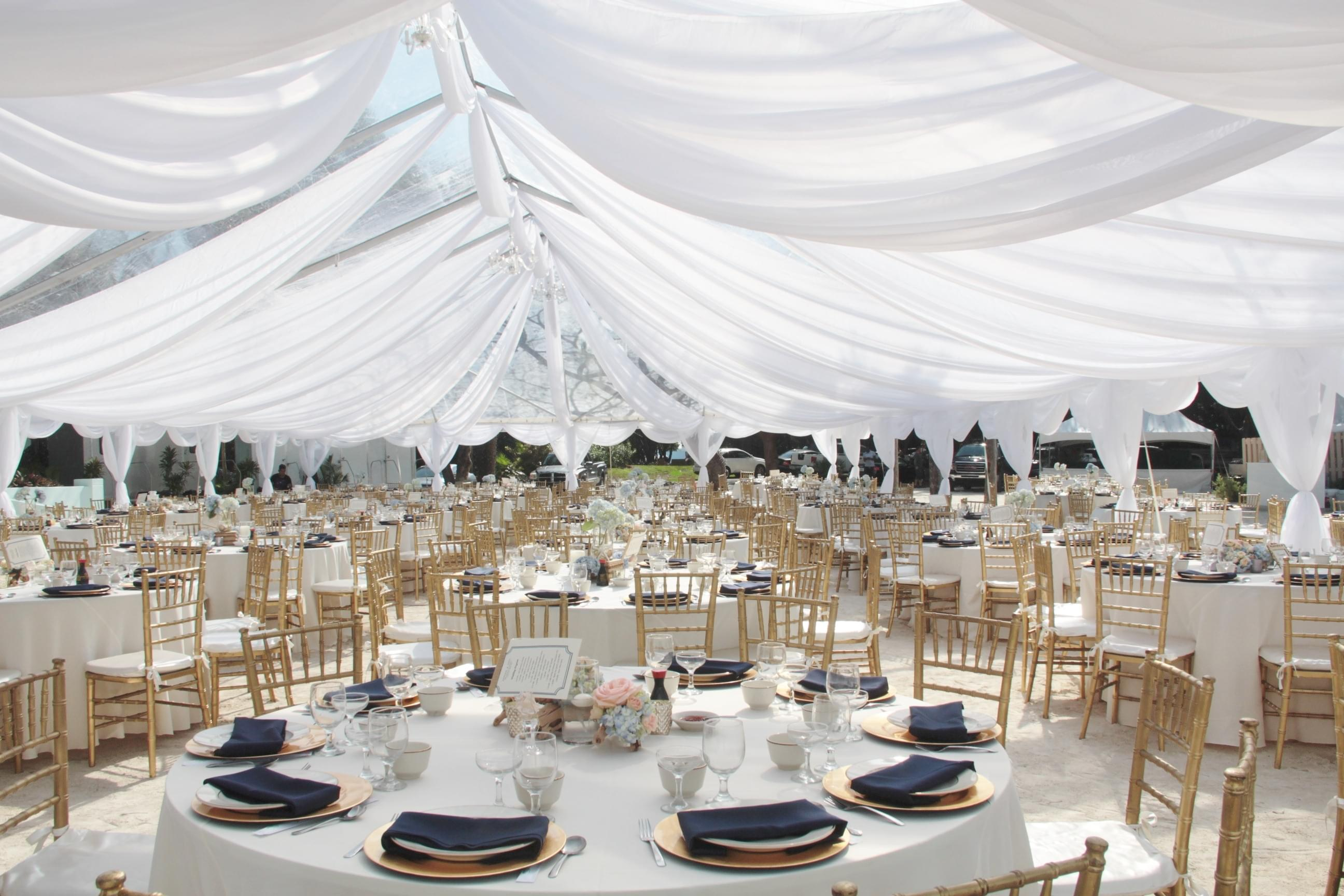 beach wedding tent venue